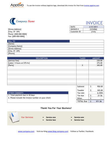 sales invoice templates [27 examples in word and excel], Invoice templates