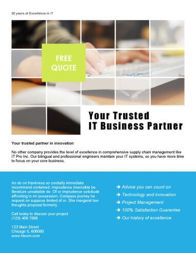 Your Trusted Partner Flyer Template  Free Microsoft Word Flyer Templates
