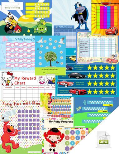 39 potty charts (JPG version)