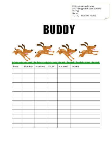 puppy schedule template