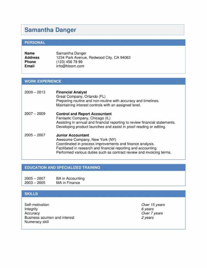 Blue Pop Resume Template