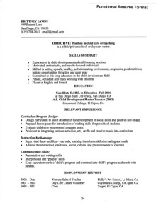 Awesome Functional Resume For Young Teacher Example Pertaining To Functional Resume Samples