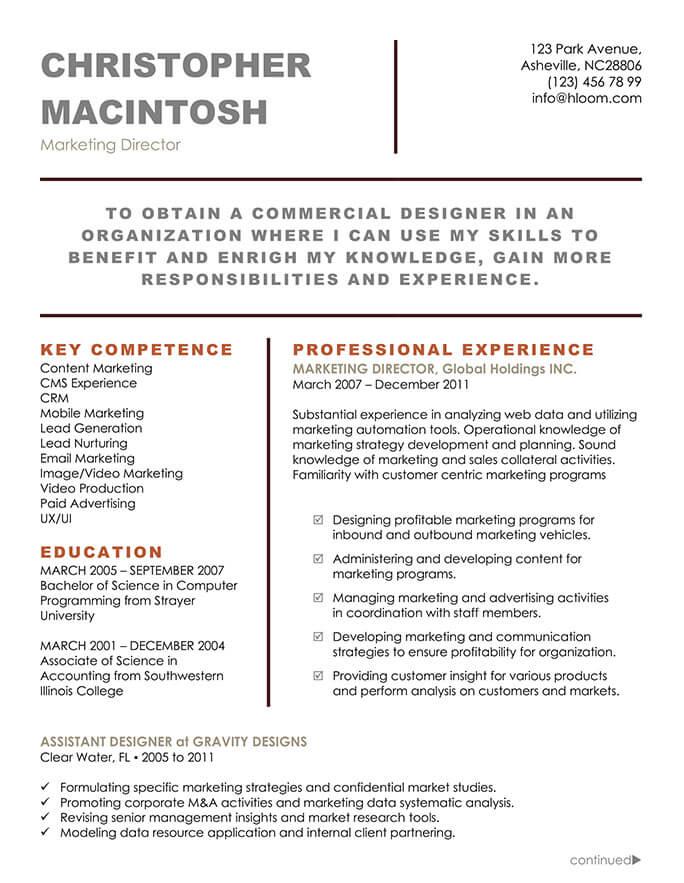 22 contemporary resume templates