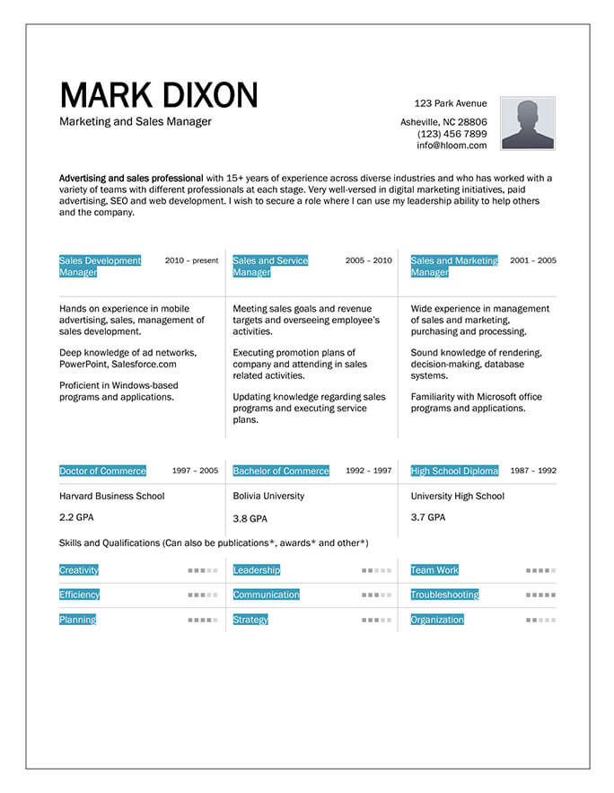 Column Mix Resume Template