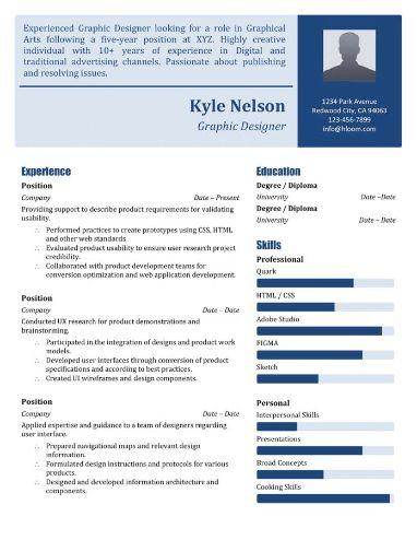Modèle de CV Technologie bleu profond