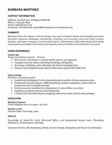 Depth Resume Template