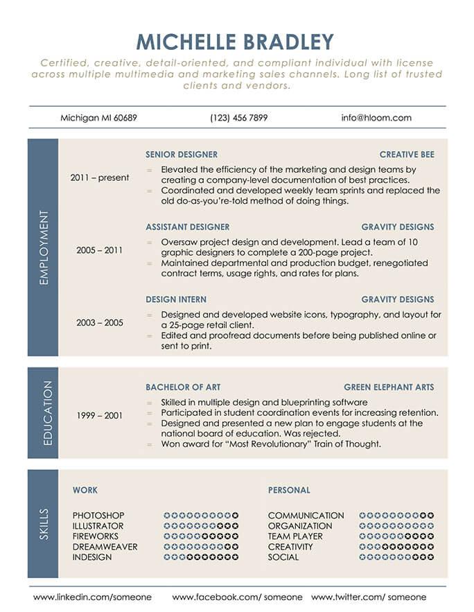 Organized Resume Template