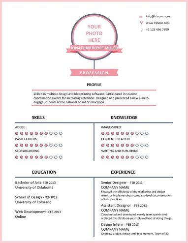 Pink Timeline Resume Template