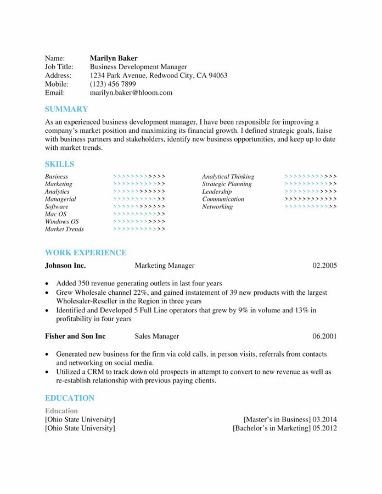 Sky Blue Skills Highlight Resume Template