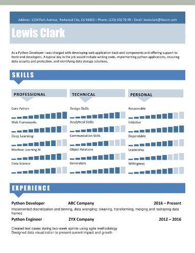 Modello di curriculum metrico a passaggi