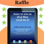 iPad mini raffle flyer template