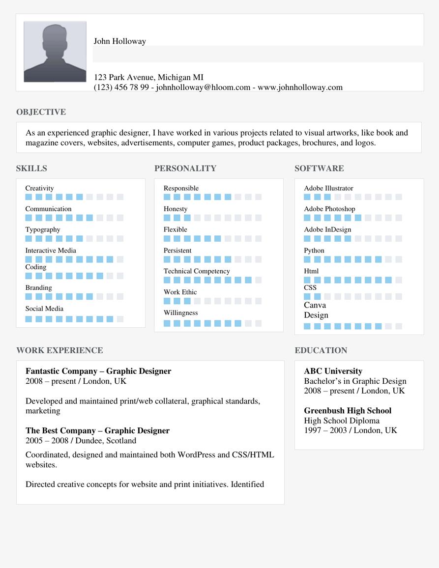 Skills Highlight Resume Template
