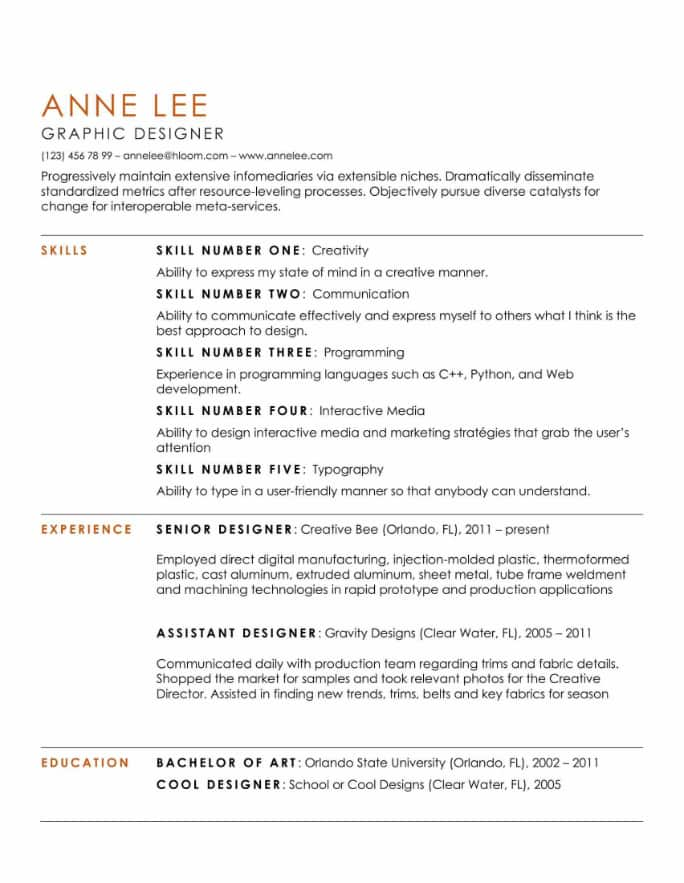 Simple And Clean Resume Templates Expert Tips Hloom