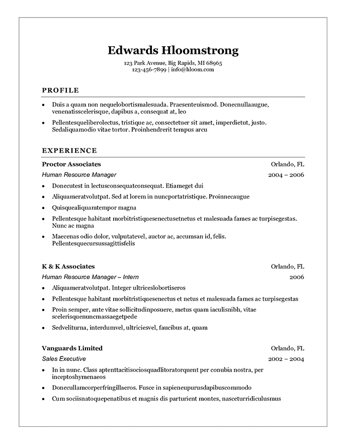 student resume templates that gets results