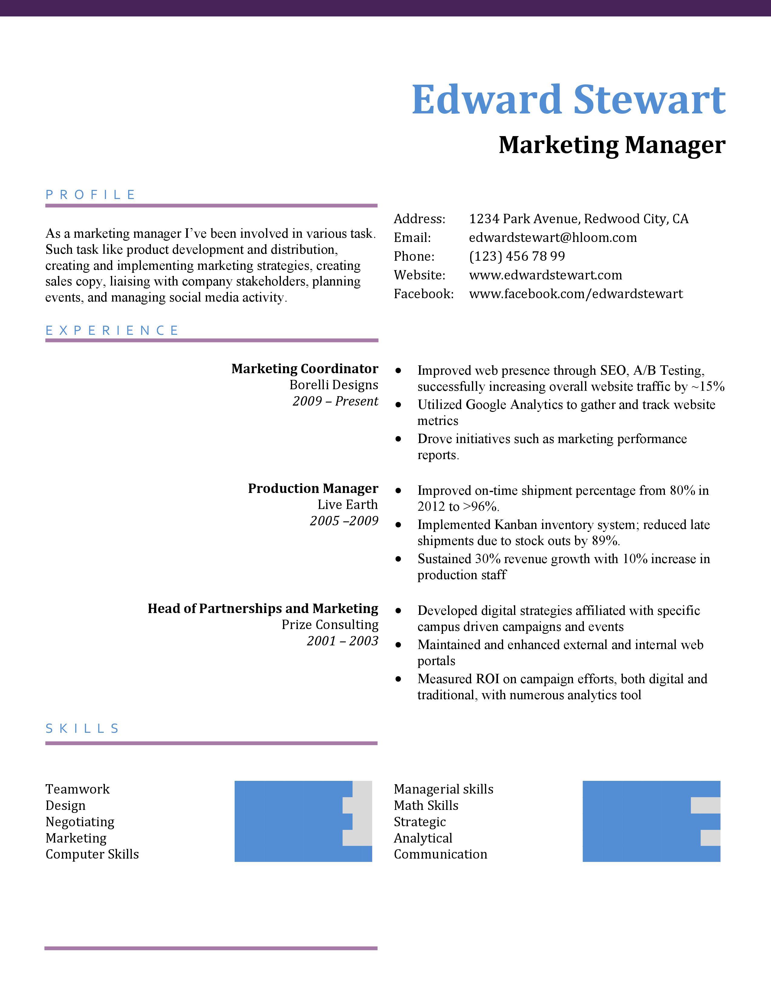 CV infographiques