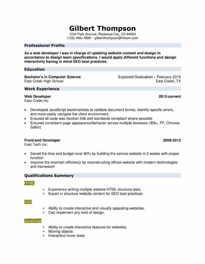 Skilled Resume Template