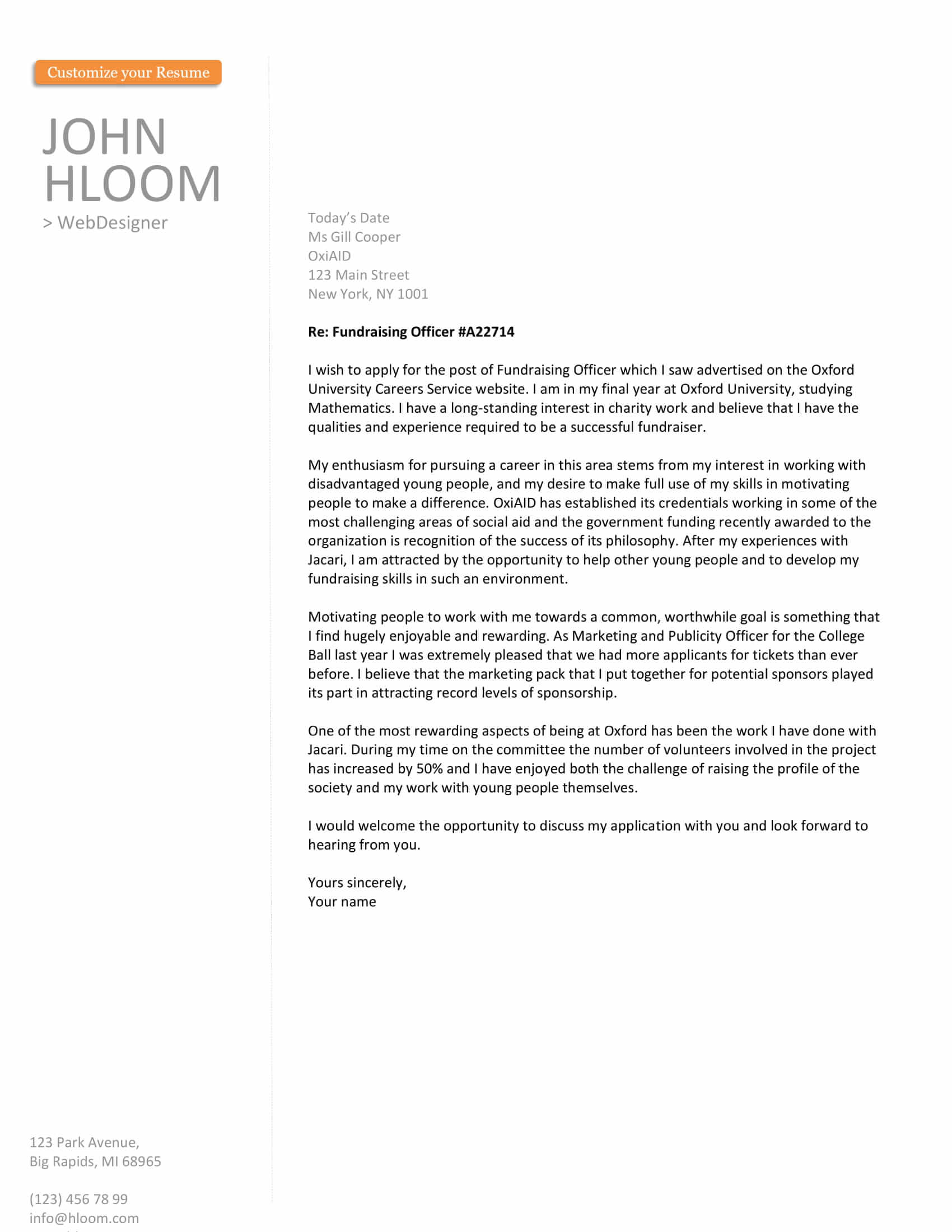200+ Free Cover Letter Templates for All Industries | Hloom